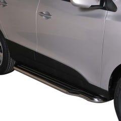 Pair of Stainless Steel 50mm Running Board Side Steps Hyundai IX35 Mk1 (2010 Onwards)