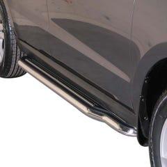 Pair of Stainless Steel 50mm Running Board Side Steps Santa Fe Mk5 (2012 Onwards)