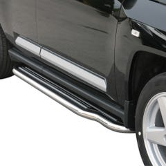 Pair of Side Steps with Bars 50mm SS Mach for Jeep Compass (07 on)