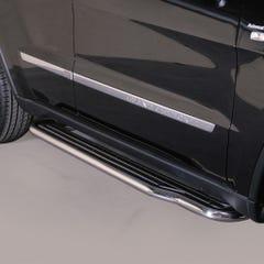 Pair of Stainless Steel 50mm Running Board Side Steps Jeep Grand Cherokee Mk6 (2011 - 2014)