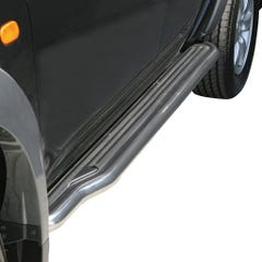 Pair of Stainless Steel 50mm Running Board Side Steps Mitsubishi L200 Mk6/Triton (2006 Onwards)