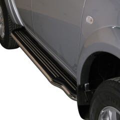Pair of Side Steps with Bars 50mm SS Mach for Mitsubishi L200 (10 on) Mk7
