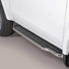 Pair of Stainless Steel 50mm Running Board Side Steps Mitsubishi L200 Mk8-9 (2016 Onwards) Extra Cab