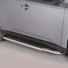 Pair of Side Steps with Bars 50mm SS Mach for Mitsubishi Outlander Mk5 (12 on)