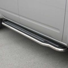 Pair of Side Steps with Bars 50mm SS Mach for Nissan D40/Navara (05 on)