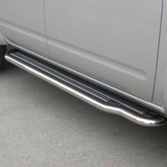 Pair of Stainless Steel 50mm Running Board Side Steps Nissan D40/Navara (2005 Onwards)