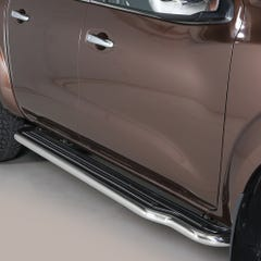 Pair of Stainless Steel 50mm Running Board Side Steps Nissan Navara NP300 (2016 Onwards) Double Cab
