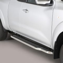 Pair of Side Steps with Bars 50mm SS Mach for Nissan Navara NP300 (16 on) DE