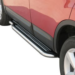 Pair of Stainless Steel 50mm Running Board Side Steps Nissan Qashqai Mk1 (2007 - 2009)