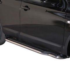 Pair of Stainless Steel 50mm Running Board Side Steps Nissan Qashqai Mk2 (2010 - 2014)
