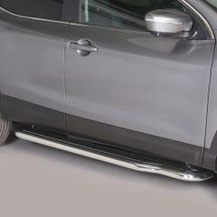 Pair of Stainless Steel 50mm Running Board Side Steps Nissan Qashqai Mk3 (2014 Onwards)