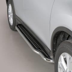 Pair of Stainless Steel 50mm Running Board Side Steps Nissan X-Trail Mk5 (2015 Onwards)
