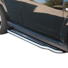 Pair of Side Steps with Bars 50mm SS Mach for Peugeot 4007 (07 on)