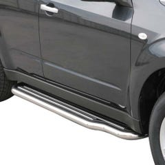 Pair of Side Steps with Bars 50mm SS Mach for Subaru Forester Mk5 (08-13)