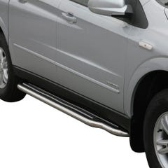 Pair of Stainless Steel 50mm Running Board Side Steps SsangYong Actyon Sports (2007 Onwards)