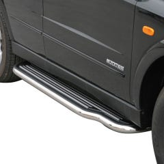 Pair of Side Steps with Bars 50mm SS Mach for SsangYong Kyron Mk1 (06 on)