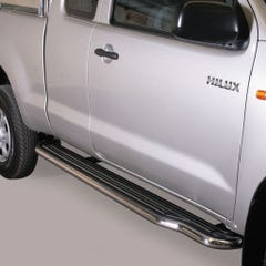 Pair of Side Steps with Bars 50mm SS Mach for Toyota Hilux (2011-16) Extra Cab