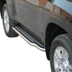 Pair of Side Steps with Bars 50mm SS Mach for Toyota Landcruiser 150 (14 on)