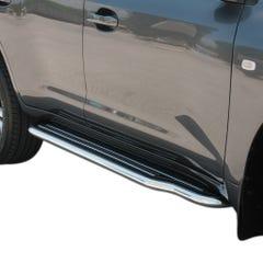 Pair of Stainless Steel 50mm Running Board Side Steps Toyota Landcruiser FJ200 (2008 Onwards)