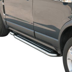 Pair of Stainless Steel 50mm Running Board Side Steps Vauxhall Antara Mk1 (2006 Onwards)