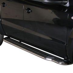 Pair of Stainless Steel 50mm Running Board Side Steps Volkswagen Amarok (2010 - 2016)