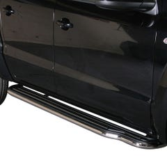 Pair of Side Steps with Bars 50mm SS Mach for Volkswagen Amarok Mk2 (16-21)