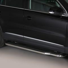 Pair of Stainless Steel 50mm Running Board Side Steps Volkswagen Tiguan Mk2 (2011 - 2015)