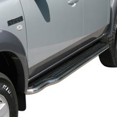 Side Steps with Bars 50mm Stainless Mach for Ford Ranger Mk3-4 and Mazda BT-50