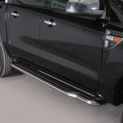 Side Steps with Bars 50mm Stainless Mach for Ford Ranger Mk5 (12 on)