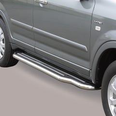 Pair of Stainless Steel 50mm Running Board Side Steps Honda CR-V Mk3 (2005 Onwards)