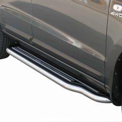Pair of Stainless Steel 50mm Running Board Side Steps for Hyundai Santa Fe Mk2 (2005 Onwards)