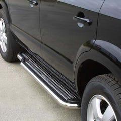 Pair of Stainless Steel 50mm Running Board Side Steps Hyundai Tucson Mk1 (2004 - 2014)