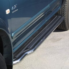 Pair of Side Steps with Bars 50mm SS Mach for Isuzu Rodeo/D-Max Mk1-2 (03 on)