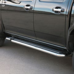 Pair of Stainless Steel 50mm Running Board Side Steps Isuzu Rodeo/D-Max Mk3 (2007 - 2012)