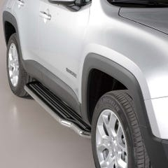Pair of Stainless Steel 50mm Running Board Side Steps Jeep Renegade Mk1 (2014 Onwards)