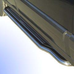 Pair of Stainless Steel 50mm Running Board Side Steps Kia Sorento Mk1 (2002 - 2006)