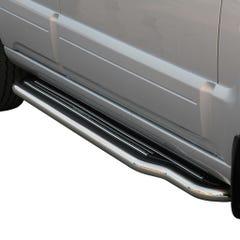 Pair of Stainless Steel 50mm Running Board Side Steps Kia Sorento Mk2 (2006 - 2009)