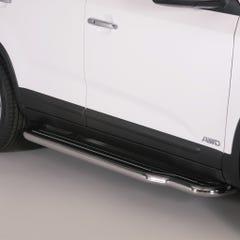 Pair of Stainless Steel 50mm Running Board Side Steps Kia Sorento Mk4 (2012 Onwards)