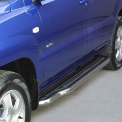 Pair of Side Steps with Bars 50mm Stainless Mach for Kia Sportage Mk2