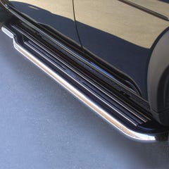 Side Steps with Bars 50mm Stainless Mach Pair for Land Rover Freelander (00-04)