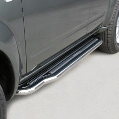 Pair of Side Steps with Bars 50mm Stainless Mach for Nissan Pathfinder (05 on)