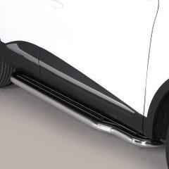 Pair of Stainless Steel 50mm Running Board Side Steps Renault Kadjar Mk1 (2015 Onwards)