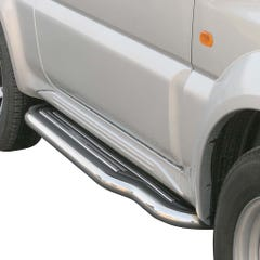 Pair of Stainless Steel 50mm Running Board Side Steps Suzuki Jimny Mk2 (2006 - 2012)