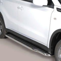 Pair of Stainless Steel 50mm Running Board Side Steps Suzuki Vitara Mk3 (2015 Onwards)