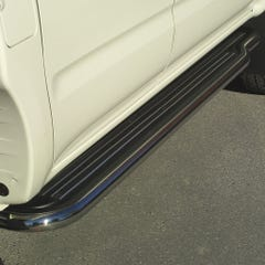 Pair of Stainless Steel 50mm Running Board Side Steps Toyota Hilux Mk5 (2001 - 2005) Extra Cab