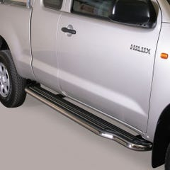 Side Steps with Bars 50mm SS Mach for Toyota Hilux Mk6 (05 on)