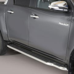 Side Steps with Bars 50mm SS Mach for Toyota Hilux Mk8 (16 on) DC