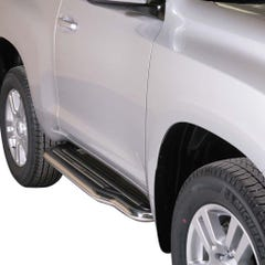 Side Steps with Bars 50mm SS Mach Landcruiser LC3-5/LC150 3 Door Mk2 14on