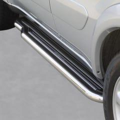 Pair of Stainless Steel 50mm Running Board Side Steps Toyota Rav4 Mk4 (2003 - 2006)