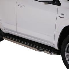 Pair of Stainless Steel 50mm Running Board Side Steps Rav4 Mk6 (2010 - 2013)